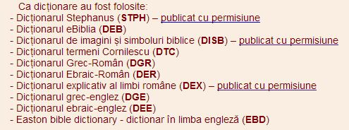 eBiblia Dictionare